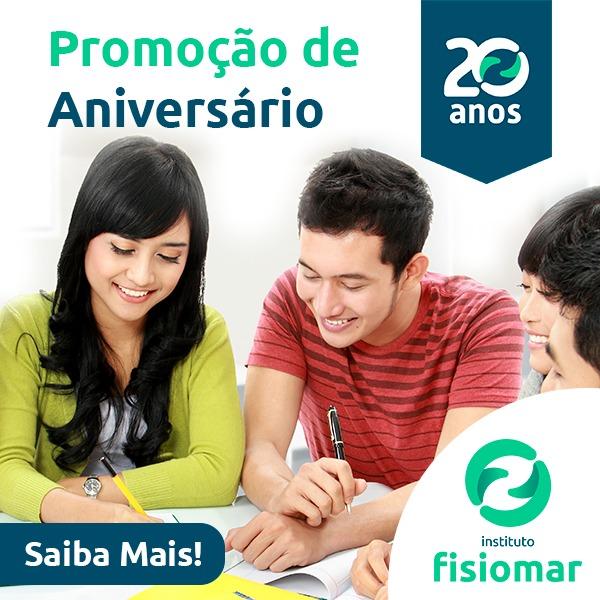 Banner da Promoção 20 anos do Instituto Fisiomar